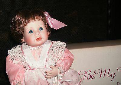 14 INCH MELISSA-BE MY VALENTINE-PORCELAIN DOLL BY ARTIST ELKE HUTCHENS IN BOX