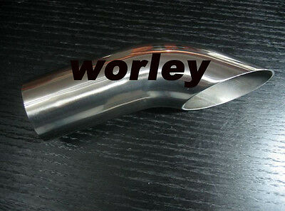 """2.3"""" inlet Stainless turn down  Exhaust tailpipe Tip 8"""" long"""