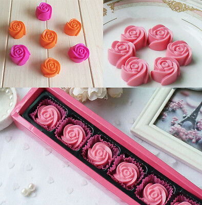 10Pcs Silicone Rose Muffin Cookie Cup 3CM Cake Baking Mould Chocolate Mold XIUS