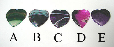 Choice of 5 : Banded Druzy Agate pendant bead DIY necklace jewellery wire wrap