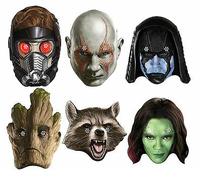 Guardians Of The Galaxy Marvel Official Card Party Face Mask Masks Value 6 Pack