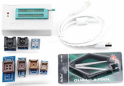 USB Universal Programmer Support 13000 ICs EPROM FLASH MCU PIC + 7pcs Adapters
