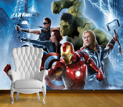 Avengers Super Hero Wall Art Wall Mural Any Size Self Adhesive Vinyl Decal 4