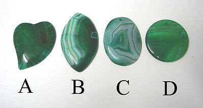 Choice of 4: emerald Dragon Vein DRUZY Banded agate Pendant bead wire wrapping