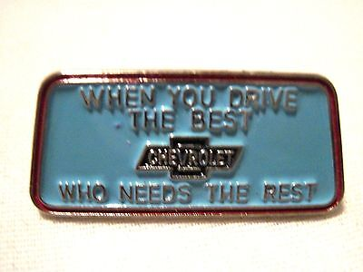 """CHEVROLET INSIGNIA """"WHEN YOU DRIVE THE BEST"""" HAT.LAPEL PIN."""
