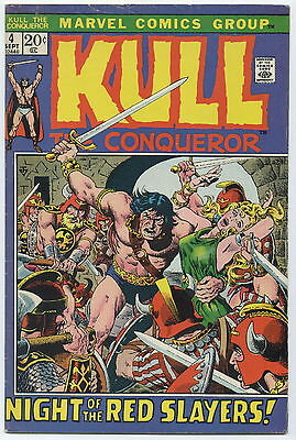 KULL THE DESTROYER (CONQUEROR), Issue #4, (Marvel 1972), FN-
