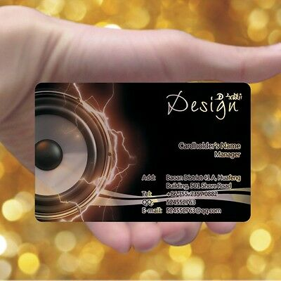 Shock 200 Full Color PVC Frosted Plastic Business Cards Free Design