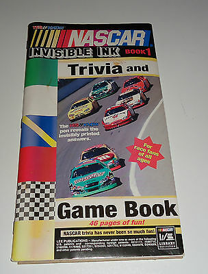 Nascar Invisible Ink Trvia & Game Book 1(FN)OPEN BUT UNUSED INSIDE-NO PEN-2006