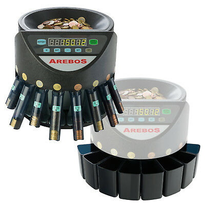 Automatic electronic money coin cash counter counting with coin shucks