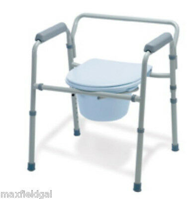 NEW Guardian 3in1 Steel Commode Easy Care G30213-4F, folding painted frame