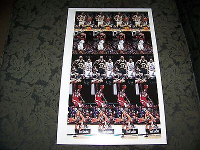 Uncut Basketball Rookies 1995 Edition Card - 3 sheets - 5 cards in sets of four