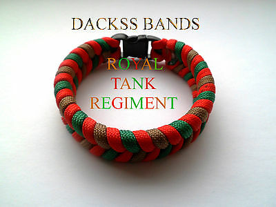 British Royal Tank Regiment 550 Paracord WristBand Un-Official Help For Hero's