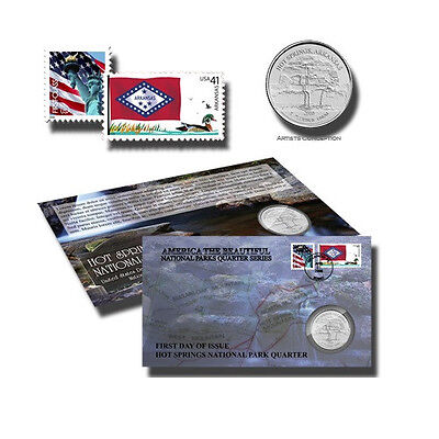2010 Hot Springs National Park Quarter America the Beautiful First Day Cover
