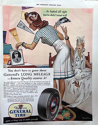 1941 General Tire Ad He looked all right but didnt wear well Girl New Guy 4107