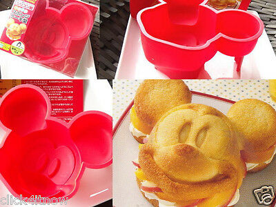 Disney Mickey Mouse SILICONE Cake MOLD Jelly Pudding BIG MOULD set Kitchen kit
