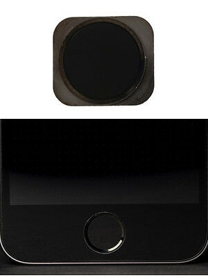Black iPhone 5S Metallic Home Menu Button For iPhone 5 5C (MAKES BUTTON LIKE 5S)