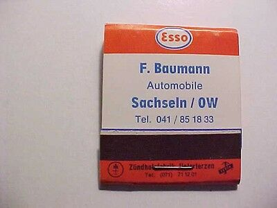 vintage 60's? european ESSO extra motor oil matchbook-germany/france/italy