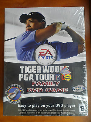 TIGER WOODS PGA TOUR 07 FAMILY DVD GAME IN WOODEN COLLECTIBLE CASE