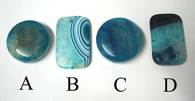 Choice of 4 : Banded Druzy Dragon Veins Agate pendant bead DIY  wire wrap