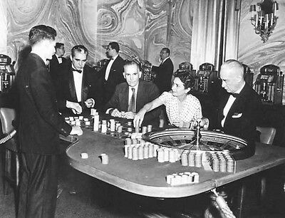 "Photo Reprint 8.5""  by 11"" Seville Biltmore Casino roulette table 1950s"