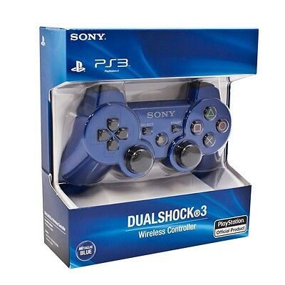 SONY PS3 PLAYSTATION 3 DUAL SHOCK SIXAXIS WIRELESS CONTROLLER -  BLUE