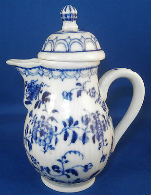 Antique 19thC Rauenstein Porcelain Miniature Coffee Pot Porzellan Kanne Creamer