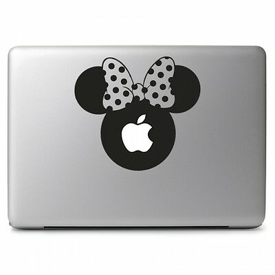 "Large Minnie Mouse Head Decal Sticker for Macbook Air Pro 13 15 17"" Laptop Car"