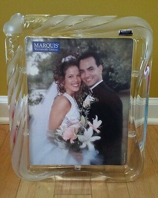 MARQUIS by WATERFORD CRYSTAL 8 x 10 Picture Frame Sweet Memories! New in box!