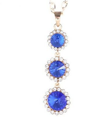 Free shipping! Womens 9K Yellow Gold Filled AAA CZ Crystal Necklace Pendant K521