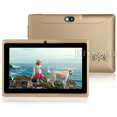 """7"""" 8GB Mid Tablet PC Google Android 4.2 Dual Core Camera Flashlight A23 Q88 Gold"""