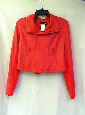 New Rock & Republic Womens Jacket Pink Coral Salmon Red Coat Size 6 MSRP $80