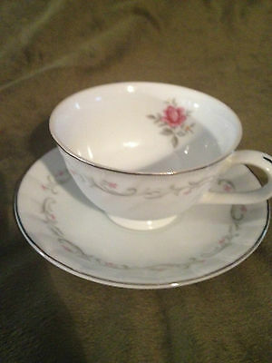 Fine China of Japan Royal Swirl Cup & Saucer Set