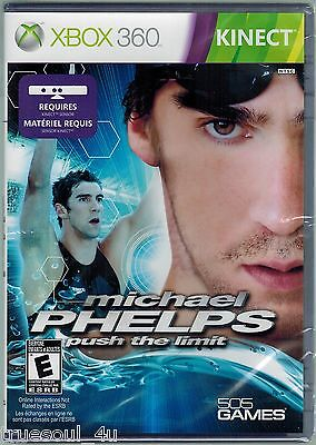 BRAND  NEW Michael Phelps: Push the Limit  (Xbox 360 Kinect) SWIMMING OLYMPICS