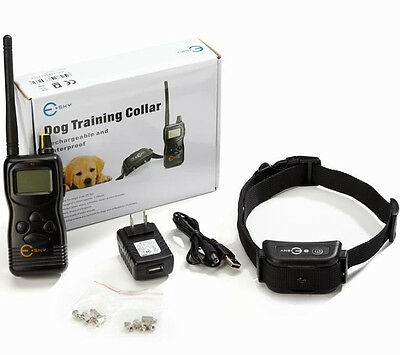 New 1000yard Remote Dog Training System w/ Rechargeable Waterproof Shock Collar