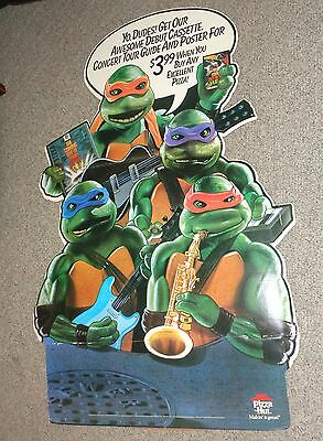 TEENAGE MUTANT NINJA TURTLES COMING OUT OF THEIR SHELLS TOUR PIZZA HUT DISPLAY