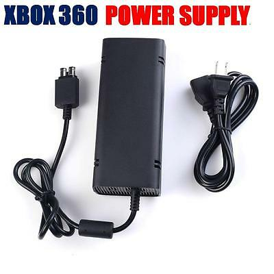 New Slim Microsoft Xbox 360 Power Supply Brick AC Charger Adapter Cable Cord