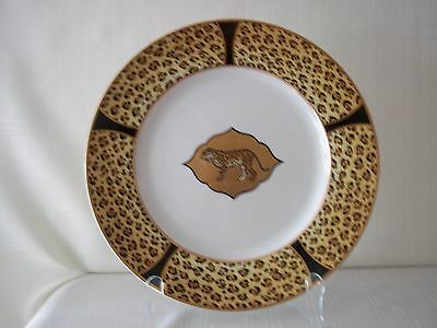 "Lynn Chase ""Amazonian Jungle"" Charger, 12"", 1994, decorated with 14 karat gold"