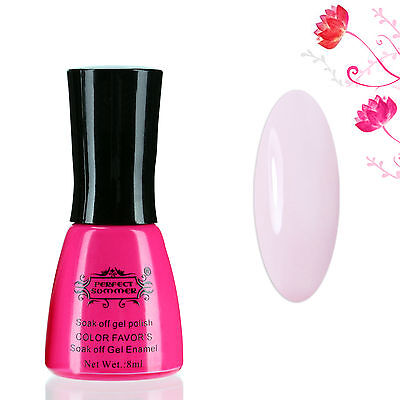 8ml Perfect Summer Gel Nail Polish Soak Off French Manicure Light Pink Color #80