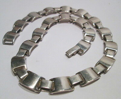 VINTAGE ROBERT LEE MORRIS RLM STERLING SILVER MODERNIST 65 GRAM LINK NECKLACE