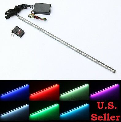 "22"" 7 Color RBG 48-SMD LED Knight Night Rider Scanner Strip Lights with Remote"