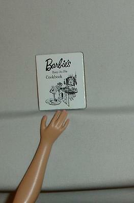 Barbie doll accessory genuine Mattel repro Learns to Cook book cookbook