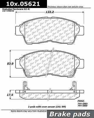 Disc Brake Pad-Posi-Quiet Extended Wear w/Shims & HrdWr Front Centric 106.05621