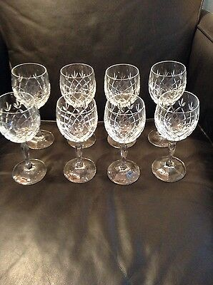 Luminarc Crystal? Clear Glass Elegant Stems Glassware Wine Goblets Set Of 8