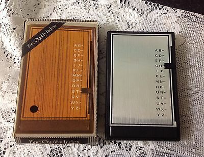 Vintage 1960s /70s Telephone Address Book Desk Top Auto Flip Index A~Z  New