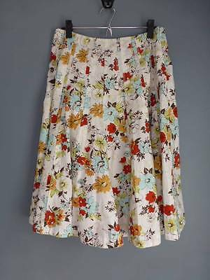 Cabi skirt 4 pastel floral pintuck pleated 100% cotton pretty for spring! EUC