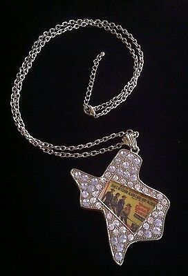 Texas Shape Rhinestone Chain Necklace Young Guns Rodeo Movie Poster Picture