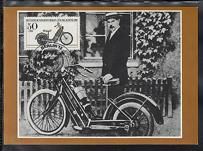 K-003) Germany Maxicard Hildebrand & Wolf Müller, historical motorcycle
