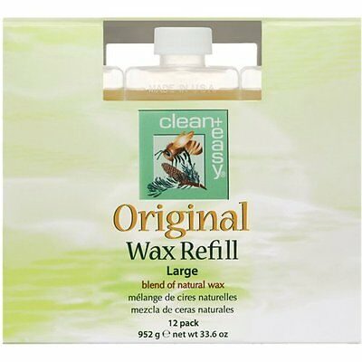 NEW Clean + Easy Original Large Leg Wax Refills 12 Count FREE SHIPPING