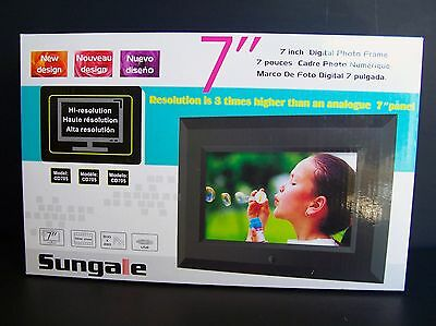 """NEW Sungale CD705 7"""" Digital Picture / Photo Frame"""