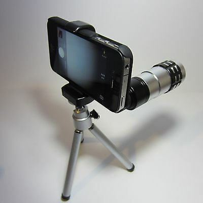 Camera Lens Kit for iPhone 4/4s  2x 9x 12x Zoom Telephoto/Fisheye/Macro + Tripod